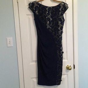 Fabulous blue sheath dress